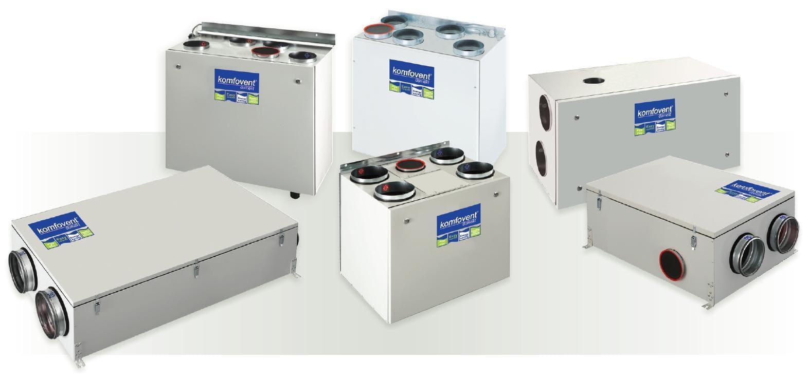 Приточно-вытяжные установки с рекуперацией тепла различного исполнения - вентиляция квартиры